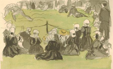 Иллюстрированная Книга Denis - Le crépuscule sur la mer.  Illustrations de Maurice Denis.