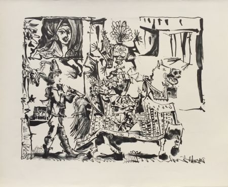 Литография Picasso - Le Depart (The Departure) (B. 686)