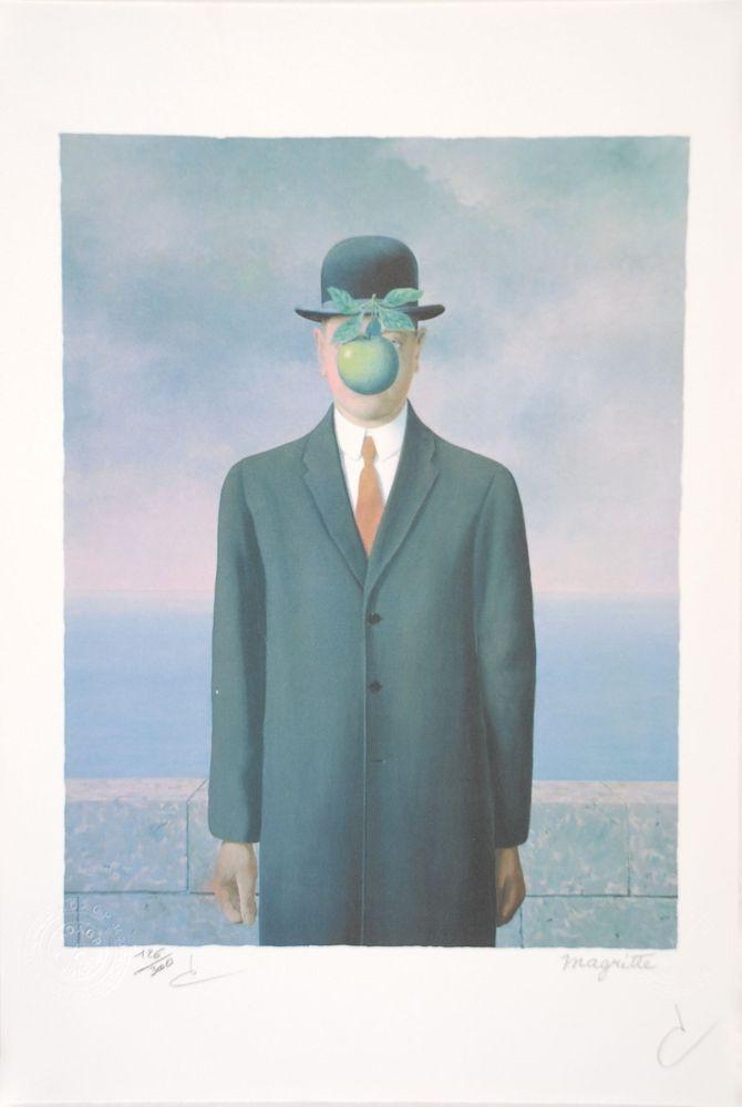 Литография Magritte - Le Fils de l'Homme - The Son of Man