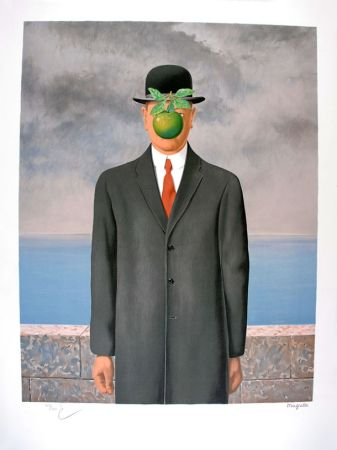 Литография Magritte - Le Fils de l'Homme - The Son of Man