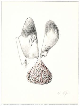 Литография Topor - Le fond du discours