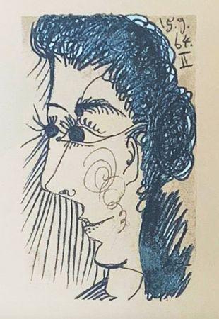 Литография Picasso (After) - Le Goût du Bonheur - Femme de profil (1964)