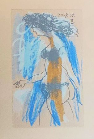 Литография Picasso (After) - Le Goût du Bonheur - Nu féminin debout (1964)