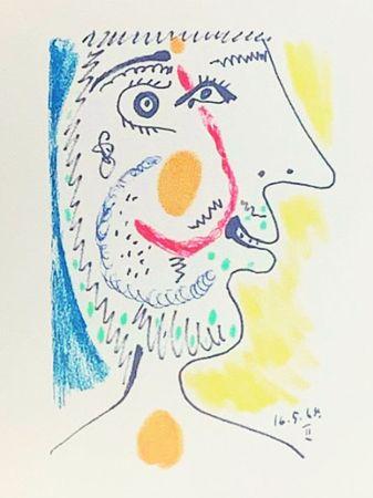 Литография Picasso (After) - Le Goût du Bonheur - Portrait d'un homme barbu (1964)