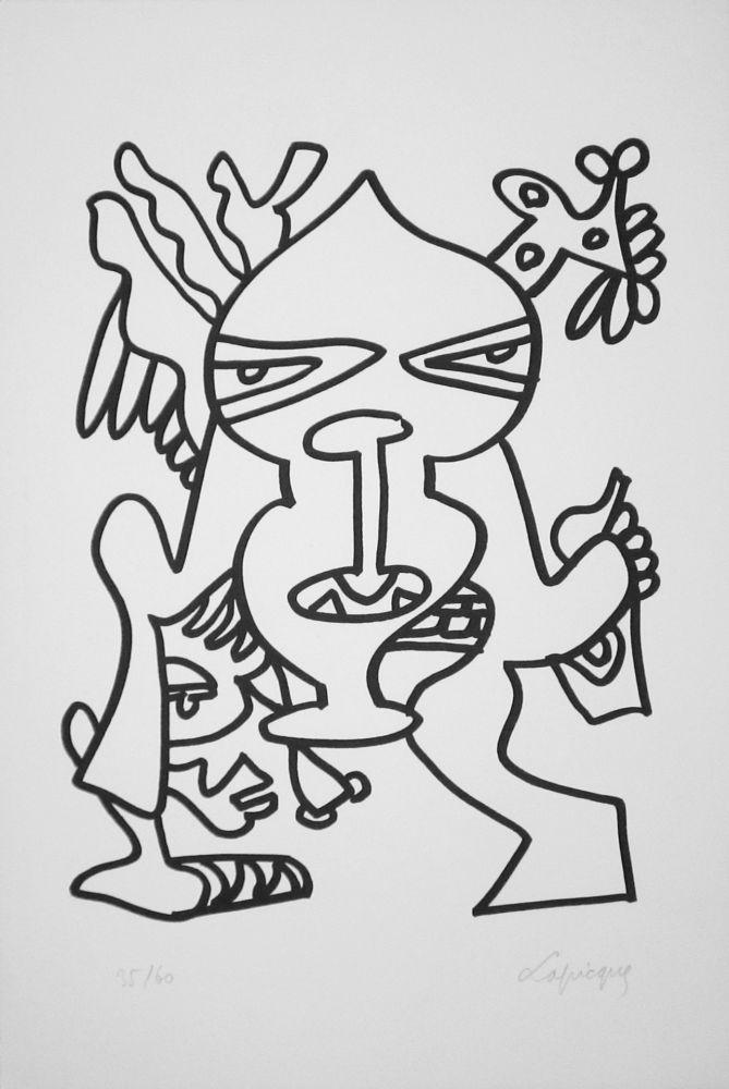 Литография Lapicque - Le Grand chef