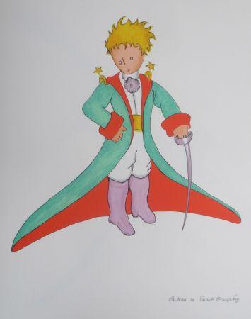 Литография Saint-Exupéry - Le grand manteau