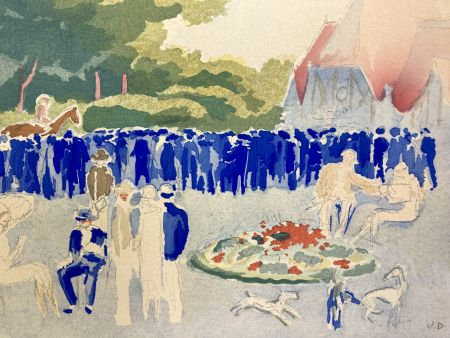 Трафарет Van Dongen - Le Grand prix de Normandie. Pochoir, 1920.