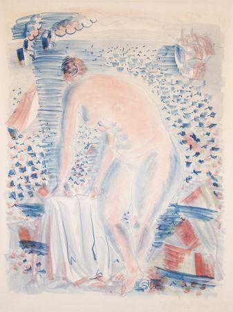 Литография Dufy -  Le grande Baigneuse (The large Bather)