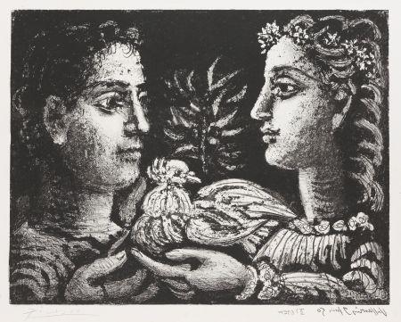 Литография Picasso - Le Jeneusse