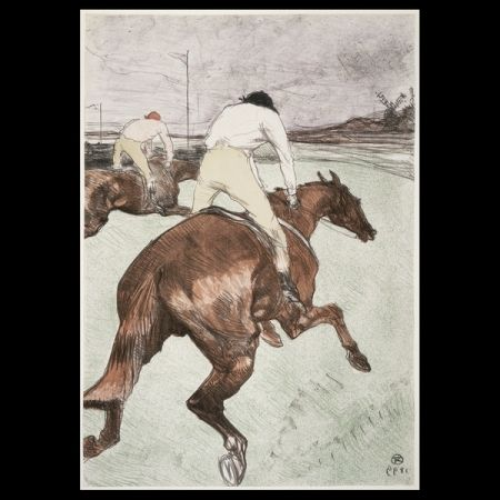 Литография Toulouse-Lautrec - Le jockey