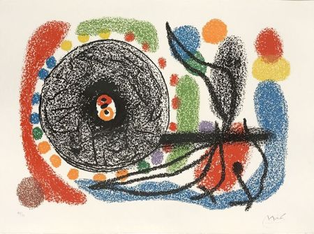 Литография Miró - Le Lezard aux plumes d'or (The Lizard with Golden Feathers), Pl. 10