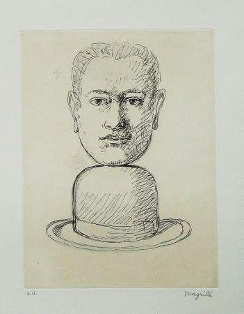 Офорт И Аквитанта Magritte - Le lien de paille (Man with a Bowler Hat)