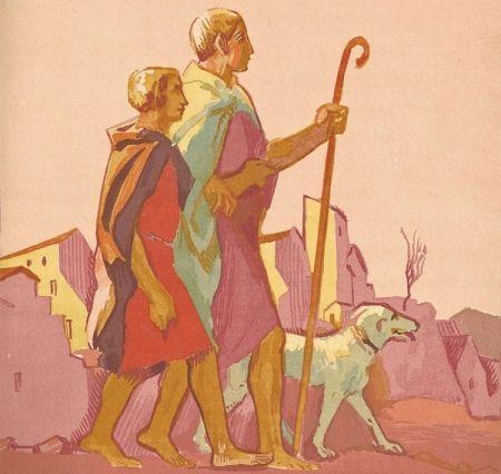 Иллюстрированная Книга Denis - Le Livre de Tobie, Traduit sur la Vulgate.Illustrations de Maurice Denis, Gravées sur bois par Jacques Beltrand