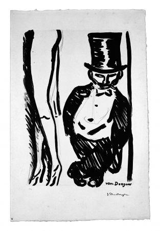 Литография Van Dongen - Le Lorgneur (Henri Toulouse Lautrec)