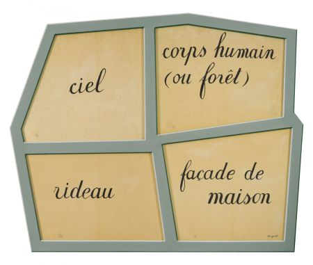 Литография Magritte - Le Masque Vide