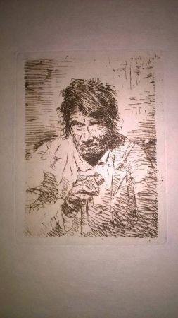 Гравюра Goya - Le mendiant (The Beggar)