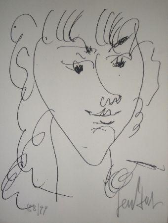 Литография Paul  - Le modèle, portrait de Lola