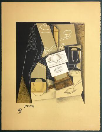 Литография Gris  - Le moulin à café. Lithographie. 1955