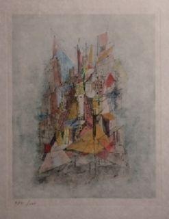 Гравюра Wols - Le navire dans la ville