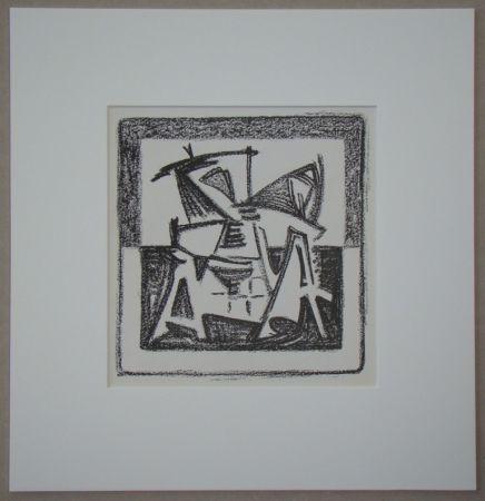 Литография Van Velde - Le Noir est une couleur