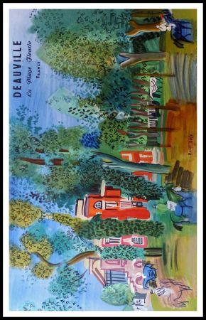 Литография Dufy - LE PADDOCK A DEAUVILLE