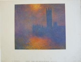 Афиша Monet - Le parlement à Londres