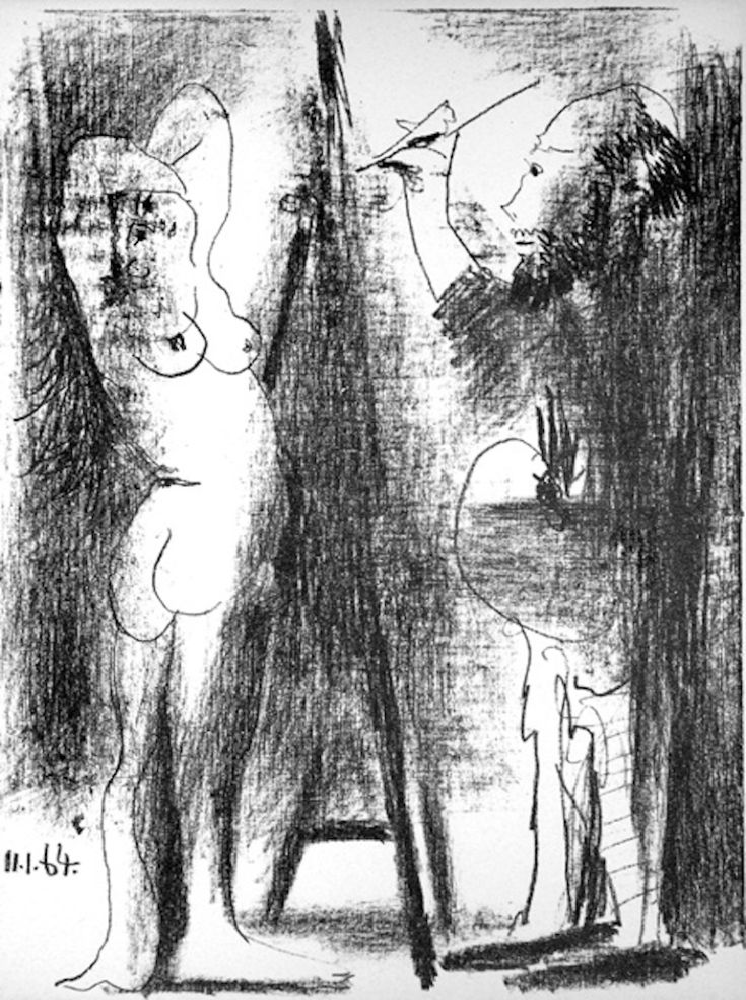 Литография Picasso - Le Peintre et Son Modèle
