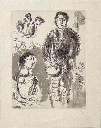 Гравюра Chagall - Le peintre et son modèle