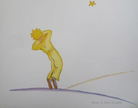 Литография Saint-Exupéry - Le petit prince et l étoile