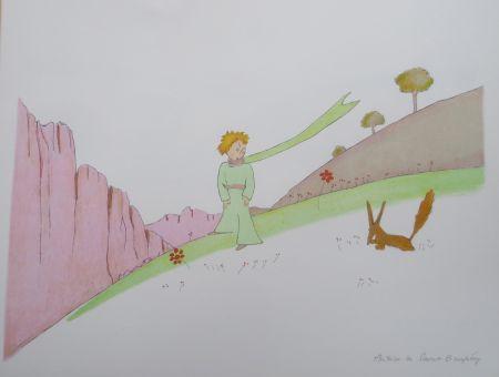 Литография Saint-Exupéry - Le petit prince et le renard