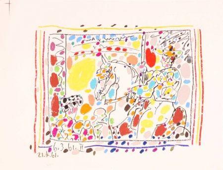 Литография Picasso -  Le Picador II / A los Toros