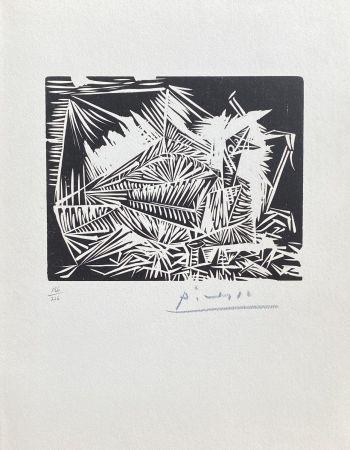 Линогравюра Picasso - Le Pigeonneau