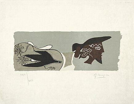 Литография Braque - Le Poète