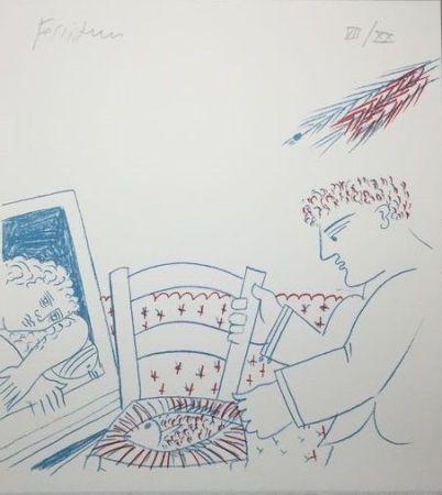Литография Fassianos - Le poisson sur la chaise