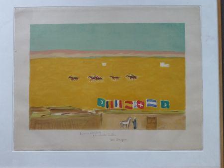 Литография Van Dongen - Le polo à Alexandrie