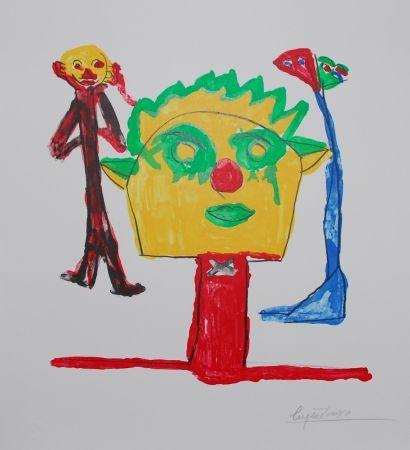 Литография Ionesco - Le portrait et ses fils