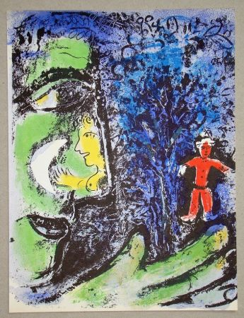 Литография Chagall - Le Profil Et L'Enfant Rouge