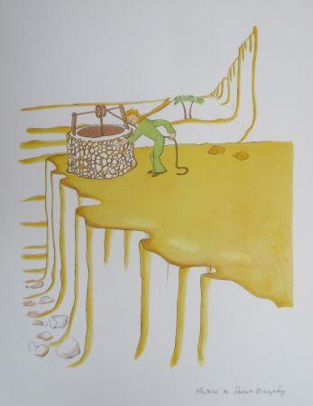 Литография Saint-Exupéry - Le puit dans le désert