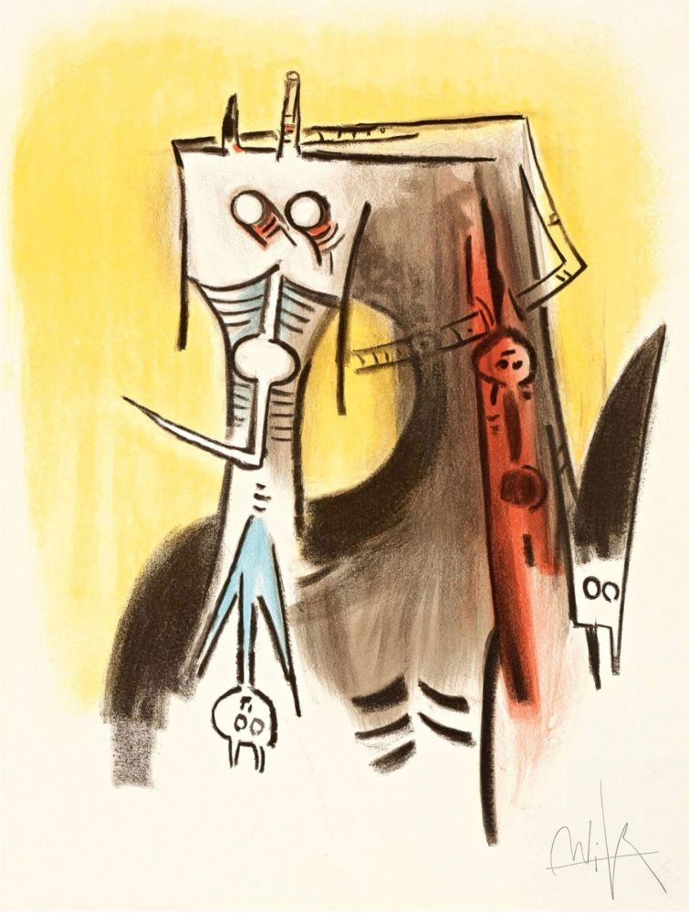 Литография Lam - Le regard vertical #1
