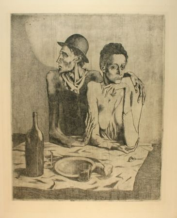 Гравюра Picasso - Le repas frugal
