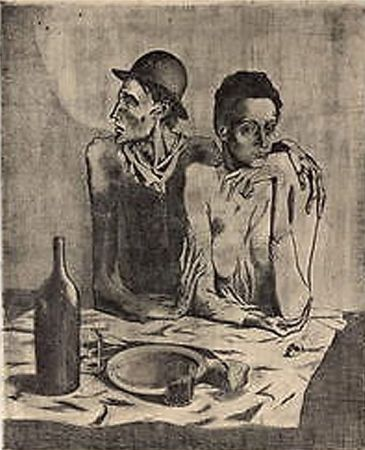 Литография Picasso (After) - Le Repas Frugal