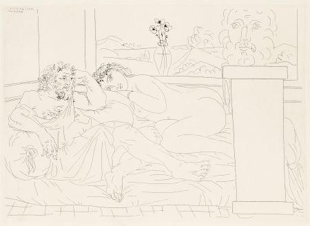 Офорт Picasso - Le repos du sculpteur 4