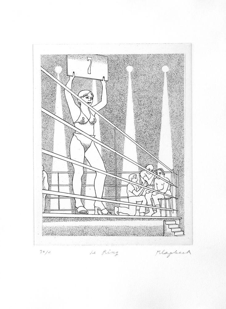 Гравюра Klapheck - Le ring