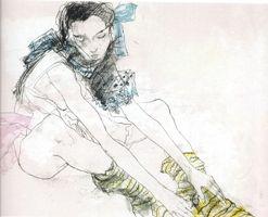 Литография Jansem - Le ruban bleu