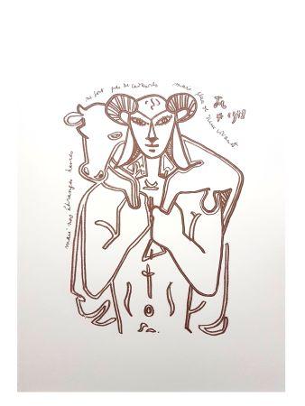 Литография Cocteau - Le Sauveur