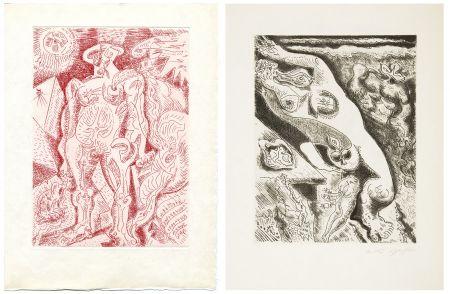 Иллюстрированная Книга Masson - LE SEPTIÈME CHANT. 4 gravures originales (1974)