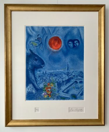 Литография Chagall - Le Soleil de Paris