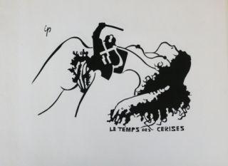 Литография Ipousteguy - Le temps des cerises -  mai 1968