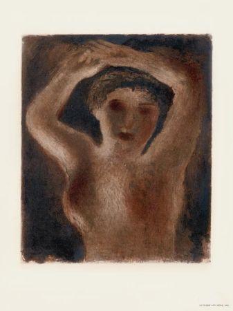 Литография Fautrier - Le Torse aux seins