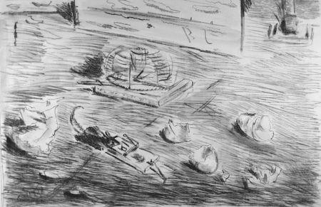 Литография De Pisis - Le trappole